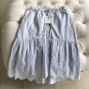 Joie Chantoya Blue/white skirt